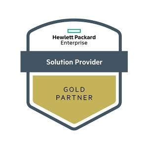 Hewlett Packard Enterprise solution provider - Gold Partner